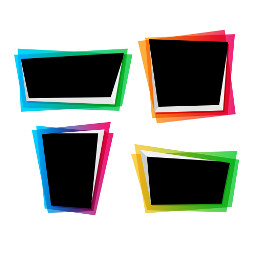 frame colored photographs