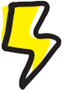 lightning power energy electricity sticker