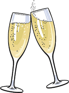 champagne bubbly glass party freetoedit