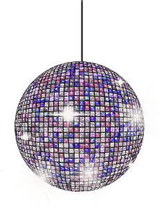 discoball shiny purple disco party