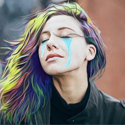 ircserenity serenity freetoedit rainbowhair cry