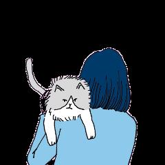girl cat loyal cute blue freetoedit