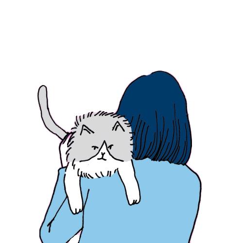 #girl #cat #loyal #cute #blue #blueaesthetic #aesthetic #tumblr #useit #nice