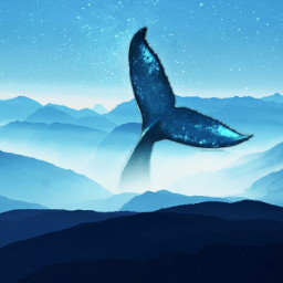 freetoedit whale mountain hills blue