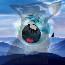 freetoedit wolf moon fullmoon howl