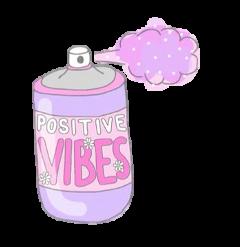 positive vibes purple pink spray