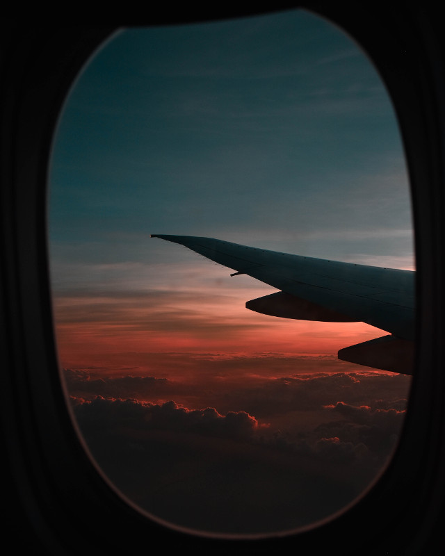 Inspire us with your take on this image!	 Unsplash (Public Domain) #airplane #view #window #freetoedit