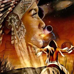 srcetherealplanet etherealplanet freetoedit indianer indianart