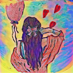 girl birthday art love