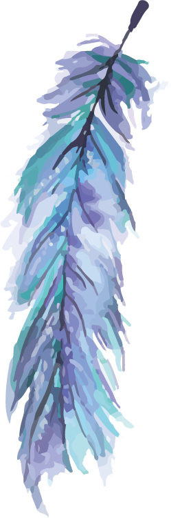 #leaf #blue #watercolor #sticker