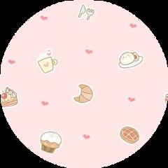 bakery kawaii cute circle pattern