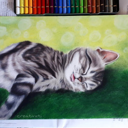 art commission drawing softpastel fabercastell