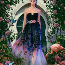 freetoedit ircredcarpet redcarpet woman flowers OscarsRedCarpet OscarsAwardsShow RedCarpet Oscars