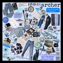 nameaesthetic archer blue moodboard nichememe freetoedit