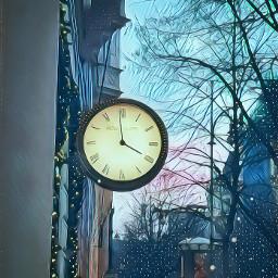 clock city nightwitch snowflakes magic freetoedit
