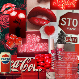 freetoedit red aesthetic love