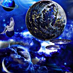 freetoedit stargazing bluegalaxy fantasy galaxy