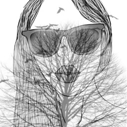 irclonelytree lonelytree fille lunette oiseau freetoedit
