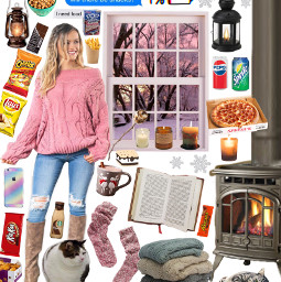 snow cold outfit moodboard aesthetic freetoedit