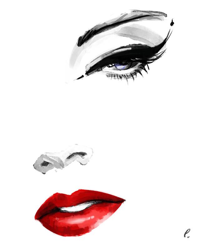 #punksy #artist #painter #illustrator #drawing #painting #lips #makeup #fashion #fashionart #lashes
