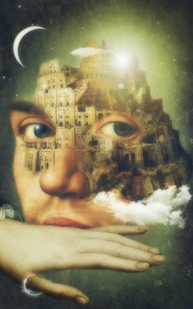 #art #fantasy #surreal #dreamy #magical #moon #towerofbabel #stestyle #ste2018  👉 @_ste_