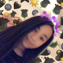 freetoedit blackemoji purplecrown