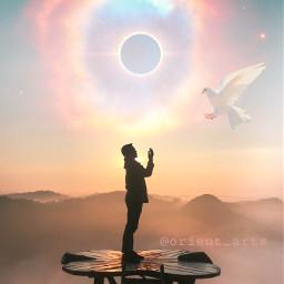 freetoedit totaleclipse suneclipse dove pigeon