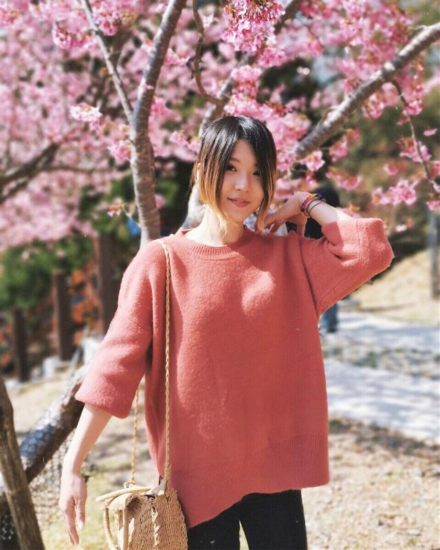 Finally saw sakura!   #freetoedit #travel #people #photography #colorpaint #flower #blackandwhite #portrait #kpopedits