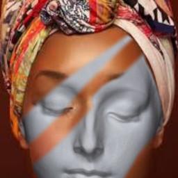 freetoedit statue art halfface doubleface