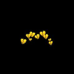 yellowhearts yellow brokenhearts freetoedit