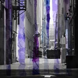 alley alleyway addphoto purple stripes