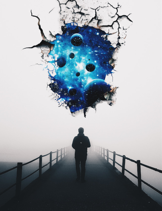 #freetoedit #madewithpicsart #cracked #galaxy #seem #fog #surreal #picsartisawesome #weekendvibes