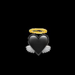 black angel emoji heart freetoedit