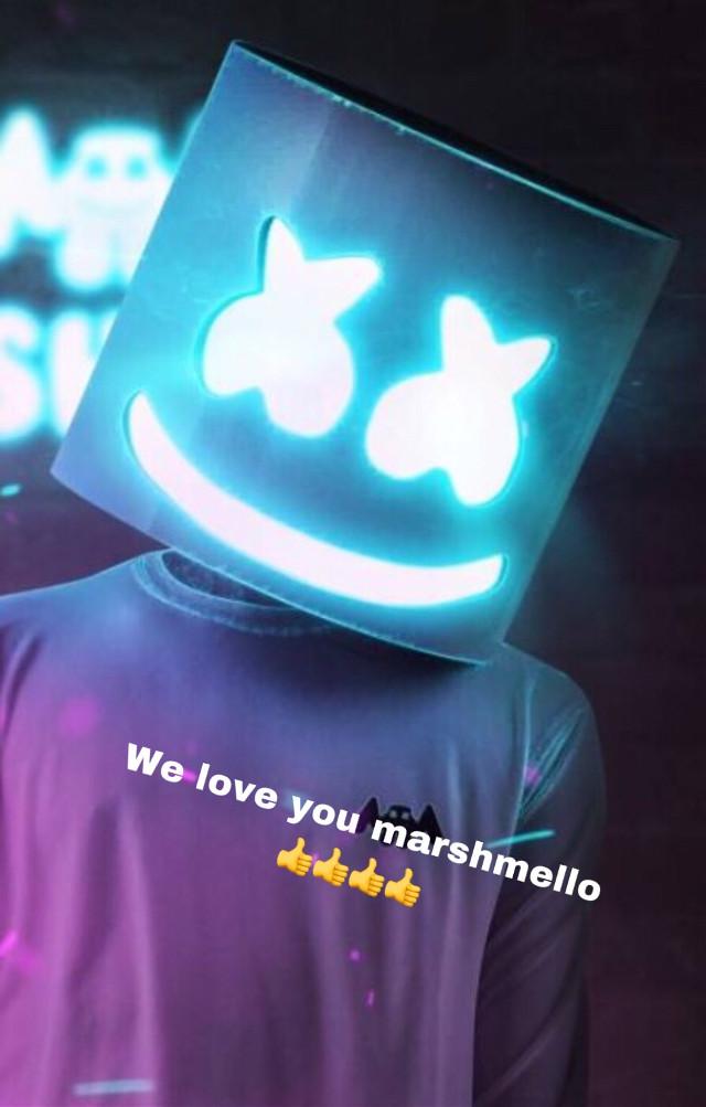 #freetoedit marshmello we love you