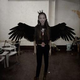 freetoedit blackandwhite blackcrown blackwings ootd