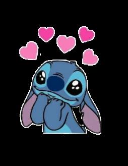 Hearts Cute Heart Crown Blue Pink Stitch Liloandstitch