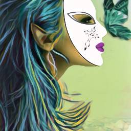 freetoedit butterfly mask mardigras magiceffects