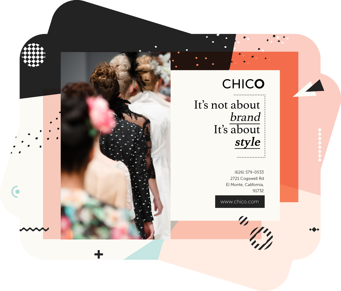 it's not about brand it's about style text on a brochure template