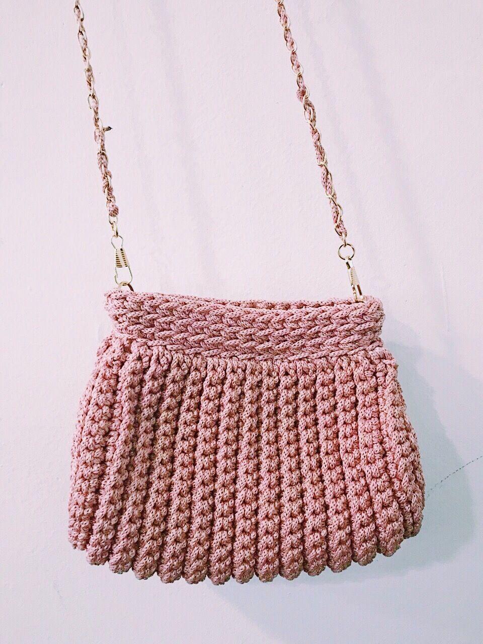 Handmade bag #freetoedit #nìty #crafts #handmade #lovely #bag #pinky