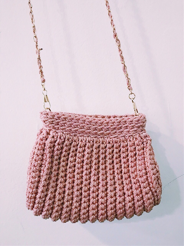 Handmade bag #freetoedit #nìty #crafts #handmade #lovely #bag #pinky