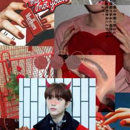 lockscreen beomgyu edit red kpop