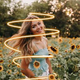 freetoedit yellow sunflower glow happiness