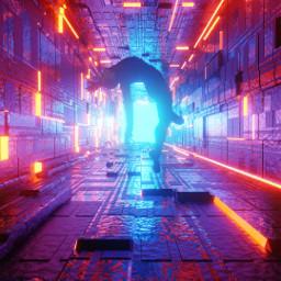 picsart remixit freetoedit space hallway