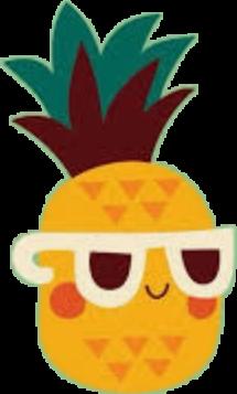 ananas pineapple cute sunglasses freetoedit