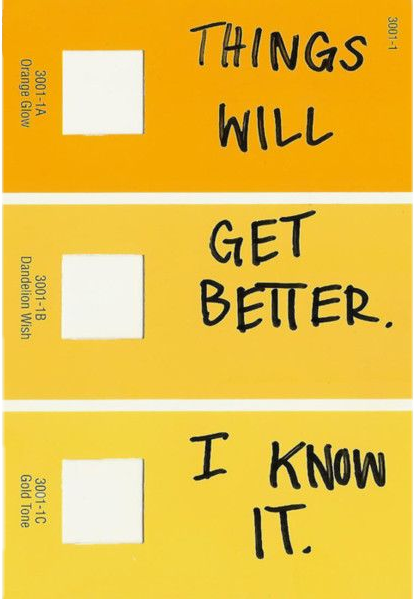 yellow aesthetic bright vintage paint art tumblr positi