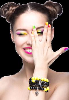 girl colorfulnails fun freetoedit