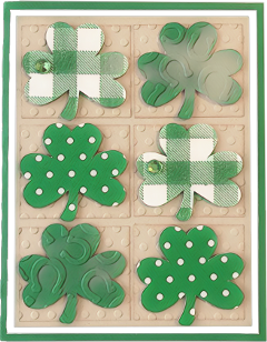 greenmagiceffect shamrocks green white tan freetoedit