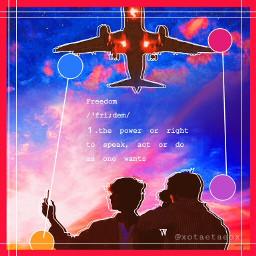 kpop bts aeroplane aesthetic edit