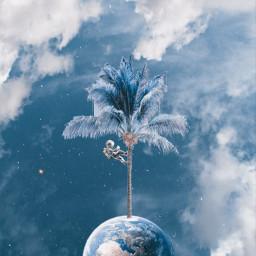 freetoedit coconut nuts earth blue