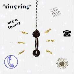 ircringring ringring oldphone phone sunflower